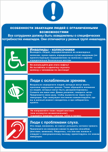 Особенности эвакуации людей с ограниченными возможностями