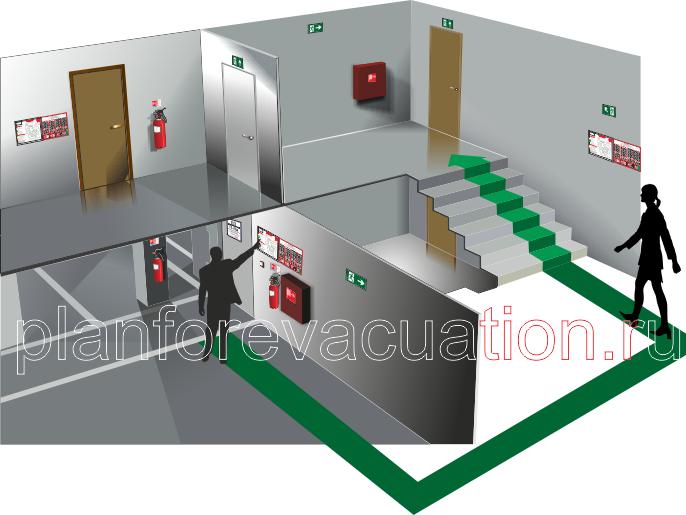 Планы эвакуации, инструкции