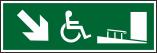 Знаки для маломобильных групп населения Эвакуация вниз по пандусу