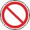 Запрещение (прочие опасности или опасные действия) Применять для обозначения опасности, не предусмотренной настоящим стандартом. Знак необходимо использовать вместе с поясняющей надписью или с дополнительным знаком безопасности с поясняющей надписью
