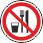 Запрещается принимать пищу На местах и участках работ с вредными для здоровья веществами, а также в местах, где прием пищи запрещен. Область применения знака может быть расширена