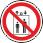 """Запрещается пользоваться лифтом для подъема (спуска) людей На дверях грузовых лифтов и других подъемных механизмах. Знак входит в состав группового знака безопасности """"При пожаре лифтом не пользоваться, выходить по лестнице"""