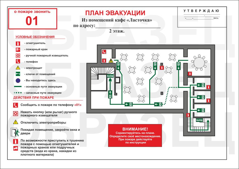Образцы планов эвакуации